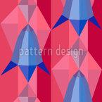Glockenblumen Geometrie Rapportiertes Design