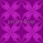Blossom Symmetry Seamless Vector Pattern Design