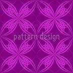 Blüten Symmetrie Nahtloses Vektormuster