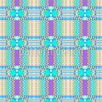 Pixel Plaid Seamless Vector Pattern Design