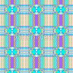 Pixel Schottenkaro Nahtloses Vektormuster