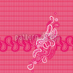 Pinky Paisley Seamless Vector Pattern Design