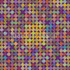 Pixeled Dots Seamless Vector Pattern Design
