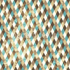 Retro Rhombus Repeating Pattern