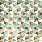 Triangles Mosaic Seamless Vector Pattern Design