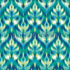Asian Ikat Damask Pattern Design