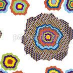 Pixel Blumen Pop Nahtloses Vektormuster