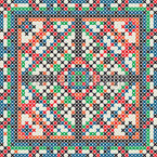 Cross Stitch Seamless Vector Pattern Design