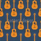 Kreolische Gitarren Nahtloses Vektormuster