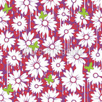 Painted Daisies Seamless Vector Pattern Design