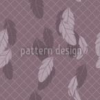 Gentle Feathers Brown Seamless Vector Pattern Design