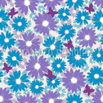 Daisies Seamless Vector Pattern Design