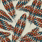 Indian Feathers Vector Pattern