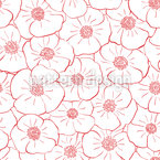 Poppy Flowers Everywhere Seamless Vector Pattern Design
