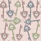 Die Schlüssel Zum Märchenreich Vektor Ornament