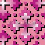 Doce Crossways Design de padrão vetorial sem costura