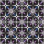 Kristall Fliesen Funkeln Bei Nacht Vektor Ornament