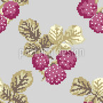 Heavenly Pixel Berries Seamless Vector Pattern Design