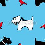 Die Vogelperspektive Eines Terriers Vektor Muster