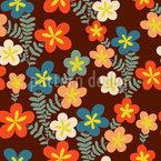 Retro Blumen Sträusschen Muster Design
