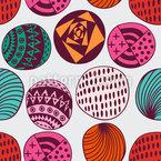 Ethno Bubbles Design de padrão vetorial sem costura