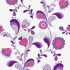 Flowers From The Seventies Seamless Vector Pattern Design