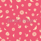Tea Time Seamless Vector Pattern Design
