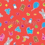 Baby Toys Seamless Vector Pattern Design