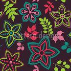 Bellissimo mix di fiori disegni vettoriali senza cuciture