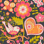 Bohemian Garden Seamless Vector Pattern Design