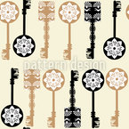 Filigree Keys Repeat Pattern
