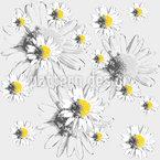 Tagtraum Mit Gänseblümchen Nahtloses Vektormuster