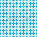 Flore Blues Motif Vectoriel Sans Couture