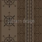Marrom Nórdico Design de padrão vetorial sem costura