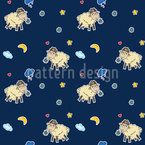 Wondrous Sheep Dreams Seamless Vector Pattern Design