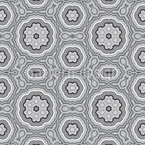 Kaleidoscope Monochrome Seamless Vector Pattern Design