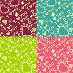 Das Patchwork Der Liebe Nahtloses Vektor Muster