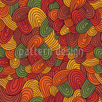 Autumnal Tongue Tangle Repeating Pattern