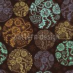 お祝いのパッチワーク・サークル シームレスなベクトルパターン設計