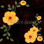 Yellow Rambler Roses Design Pattern
