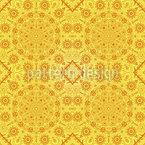 太陽の女神 シームレスなベクトルパターン設計