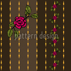 Chain Of Roses Seamless Vector Pattern Design