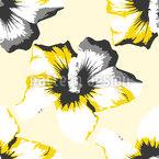Pop Art Hibiscus Design de padrão vetorial sem costura