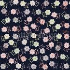 Mädchen Träumen Nachts Von Blumen Nahtloses Vektormuster