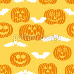 Jack O Lantern And Bat Vector Ornament