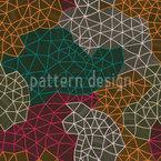 Das Netzwerk Des Kartographen Nahtloses Vektor Muster
