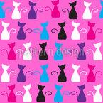 Der Besuch Der Schnurrenden Kätzchen Vektor Design