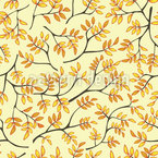 Japanese Autumn Seamless Vector Pattern