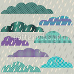 Heavy Rain Patchwork Repeating Pattern