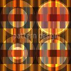 Círculos No Piso Parquet Design de padrão vetorial sem costura